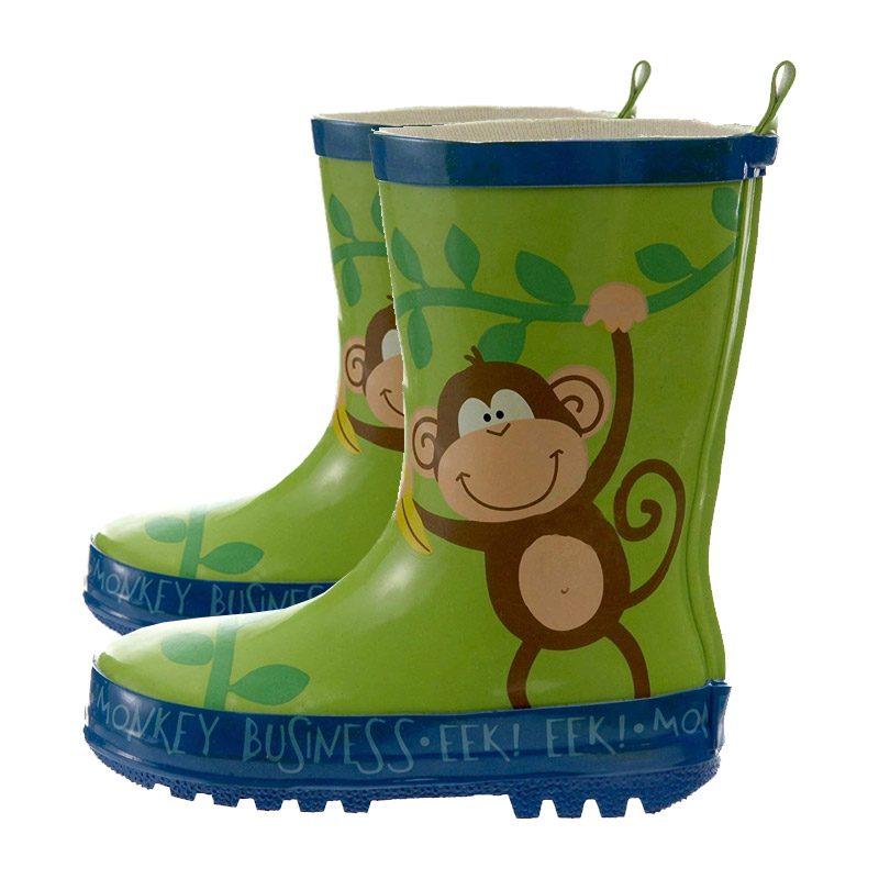 Stephen Joseph kids Wellington Boots - Monkey