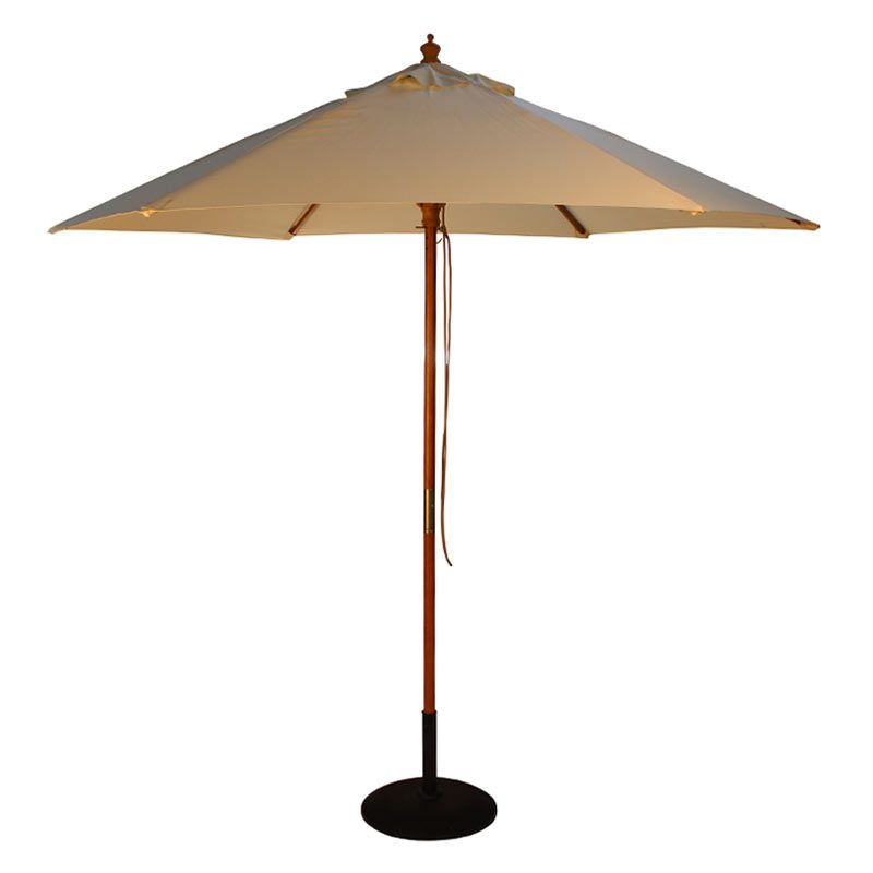 wood pulley parasol natural cutout