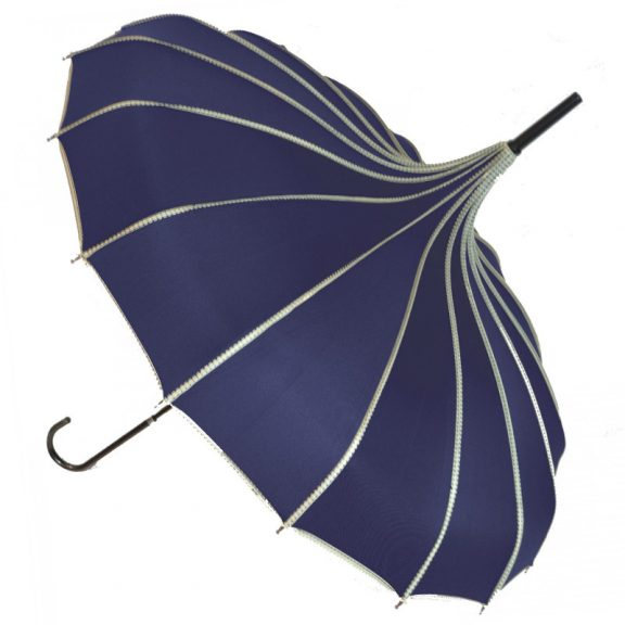 Navy Pagoda Umbrella