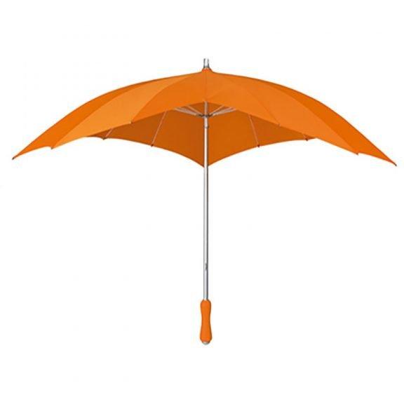 orange heart umbrella