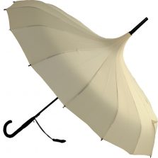 Oriental Pagoda Cream Umbrella