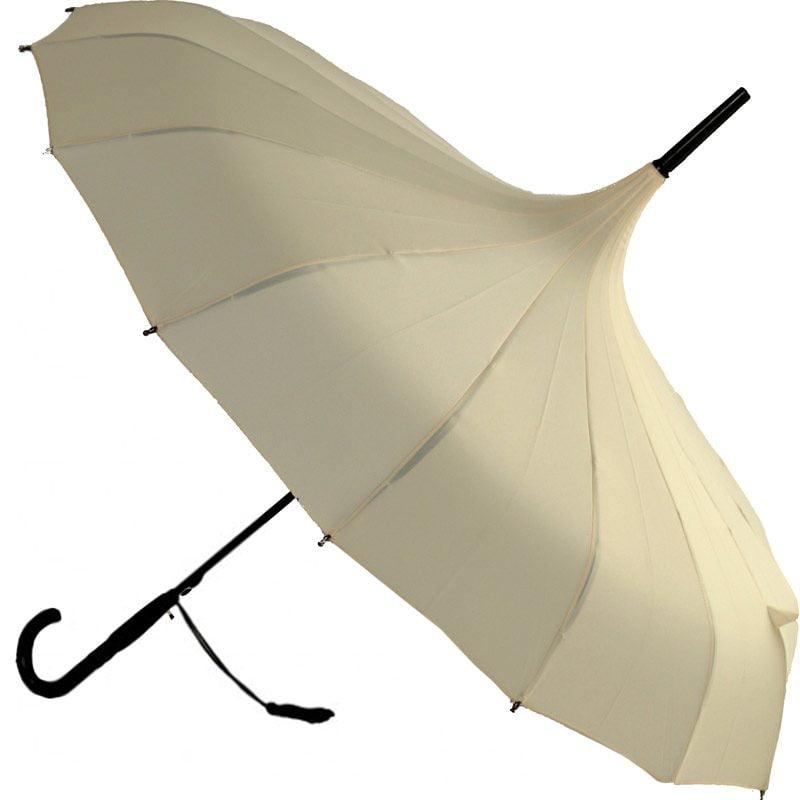 Oriental Pagoda Cream Umbrella
