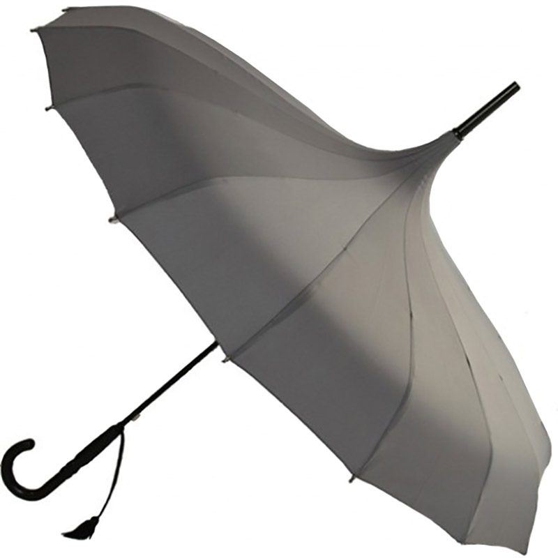 Oriental Parasol / Pagoda Umbrella Charcoal Grey