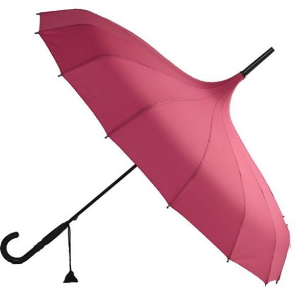 Ladies Umbrellas Oriental Pink Pagoda Umbrella