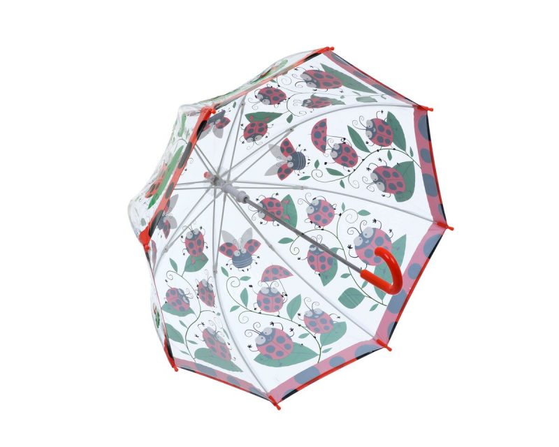 LADYBIRD PVC Kids Umbrella underneath