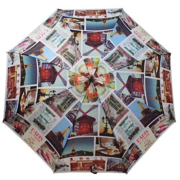 cityscape walking umbrella