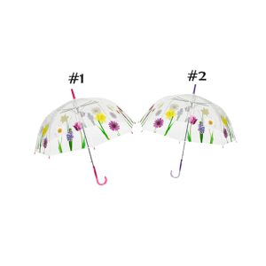 clear floral dome designer umbrella cutout