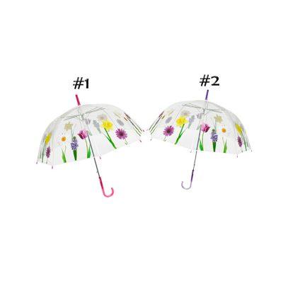 clear floral dome designer umbrella cutout