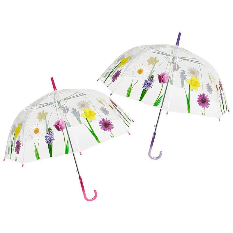 Perletti Clear Dome Floral Umbrella