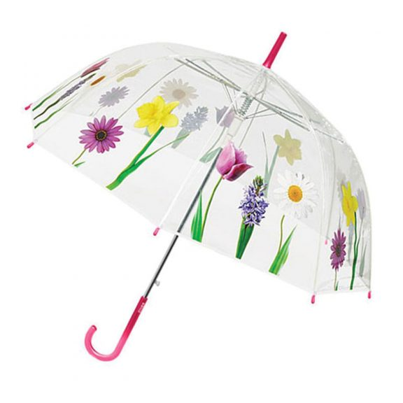 Perletti Clear Dome Floral Umbrella 1