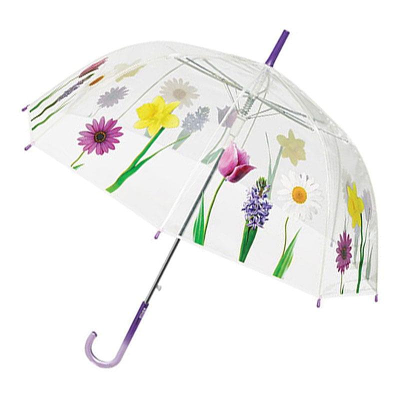 Perletti Clear Floral Dome Designer Umbrella Umbrella