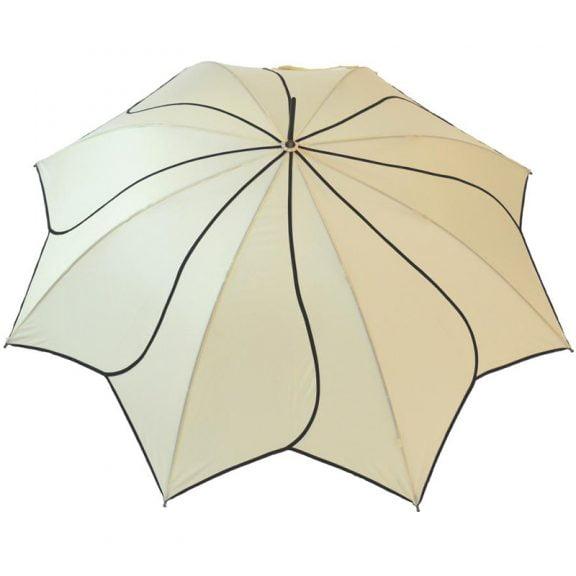 Petal Swirl Beige Umbrella 2
