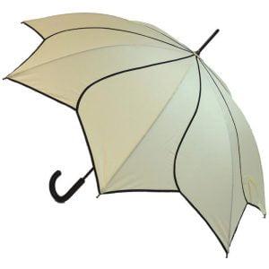 Petal Swirl Beige Umbrella