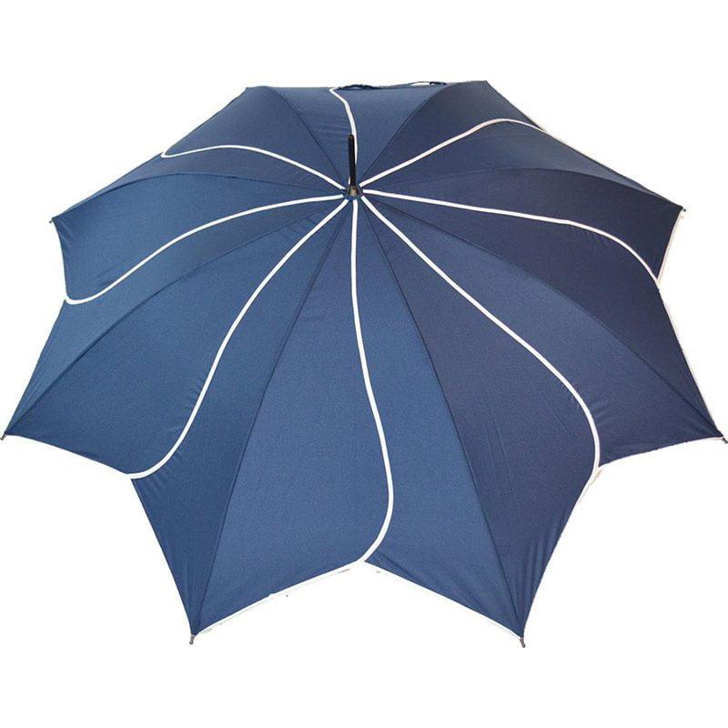 navy petal swirl umbrella