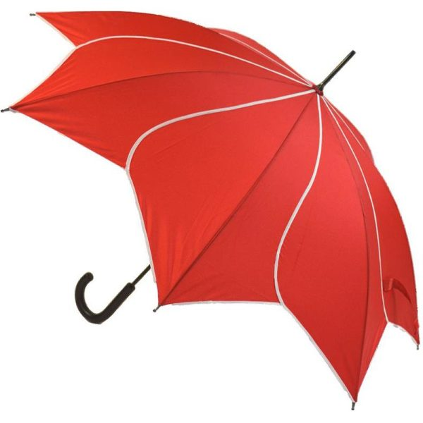 Red Flower Umbrella Petal Swirl