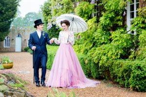 Phoebe Victorian Style Bridal Umbrella