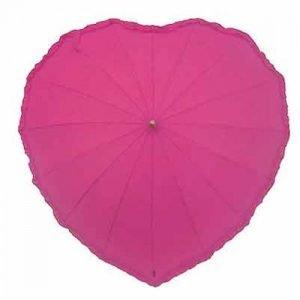Pink frilled heart umbrella