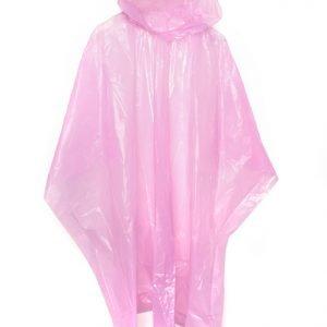 Emergency Rain Poncho - Pink