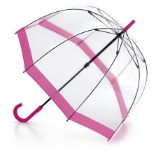 Fulton Birdcage Clear Pink Umbrella