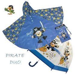 Pirate Duo Umbrella Poncho kids raincoats