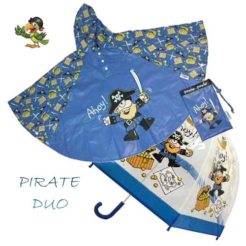 Pirate Duo Umbrella Poncho kids raincoats