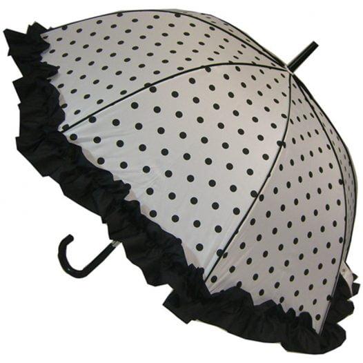 Polka Dot Umbrella - Black