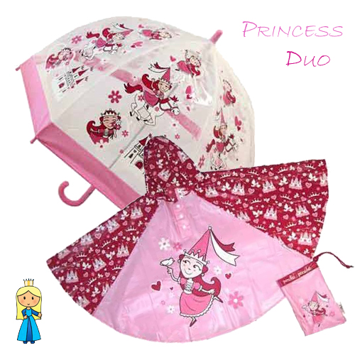 princess Duo Umbrella Poncho kids raincoats