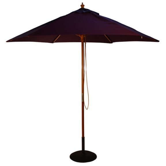 wood pulley parasol purple cutout