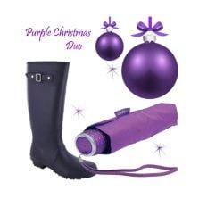Purple Rainwear Gift Set