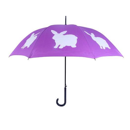 Rabbit umbrella - Purple & White