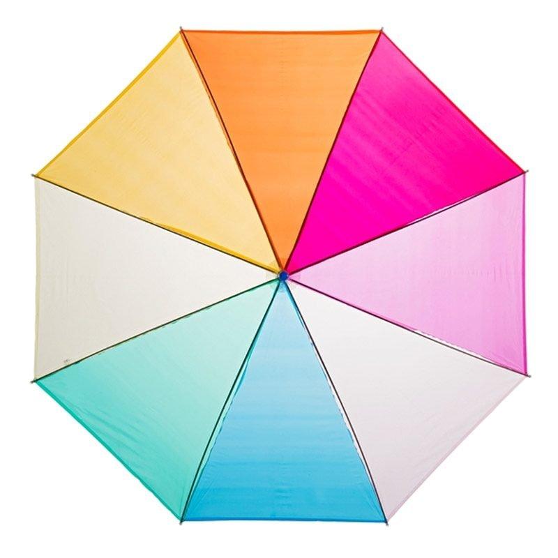 Clear Rainbow Umbrella Blue Handle