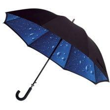 Black Double Canopy Umbrella - Raindrops Design