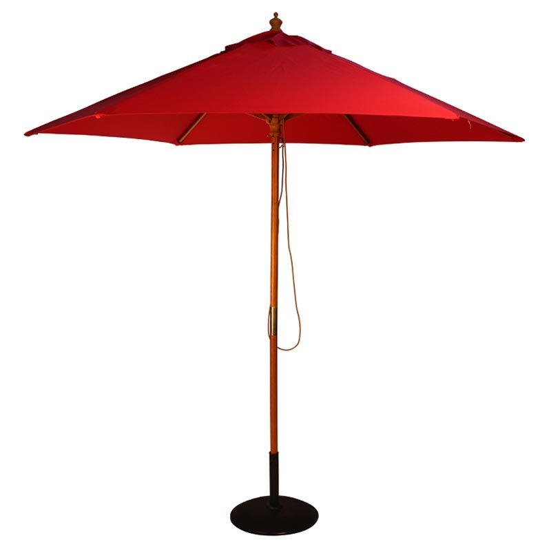 wood pulley parasol red cutout
