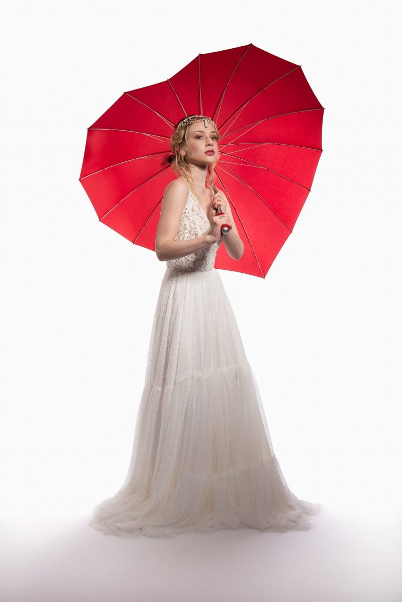 Red Heart Wedding Umbrella