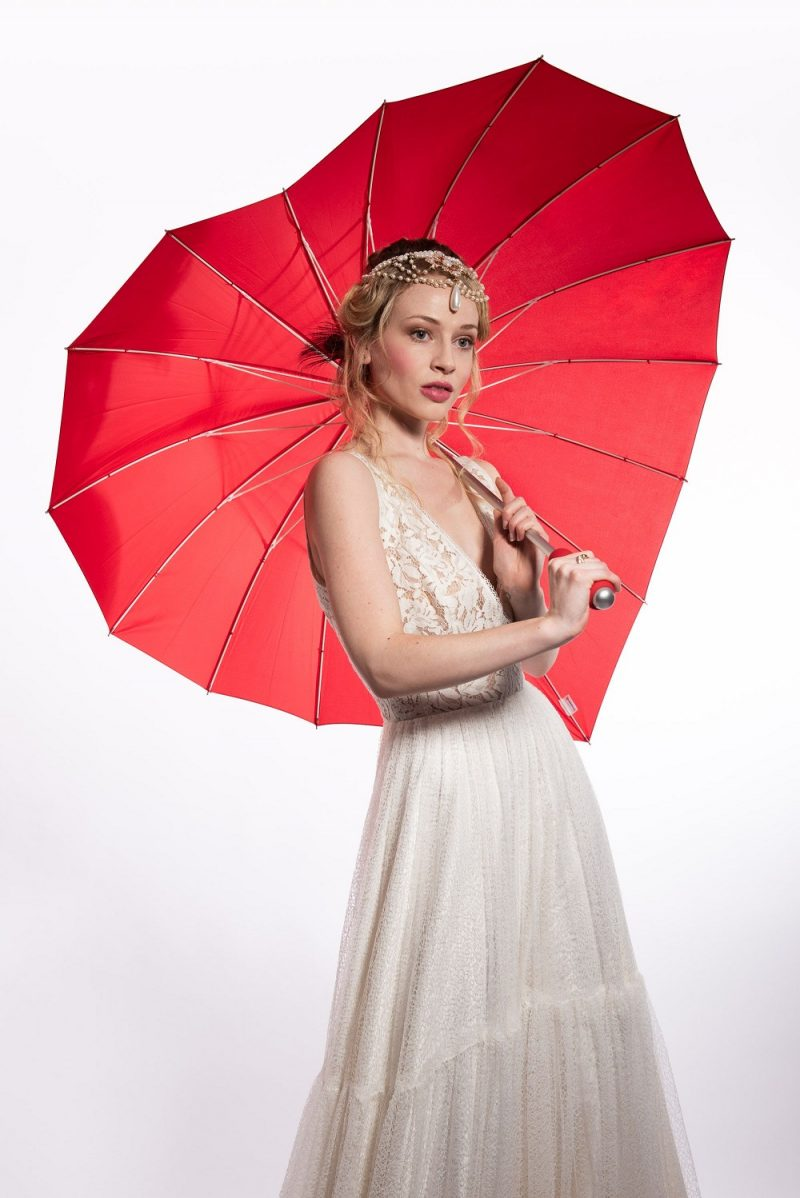 Red Heart Bridal Umbrella for weddings