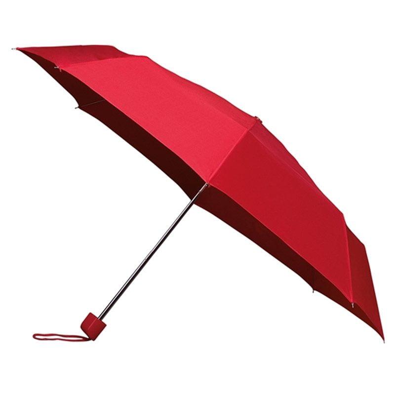 Red Folding Umbrella / Automatic Compact Umbrella - Red