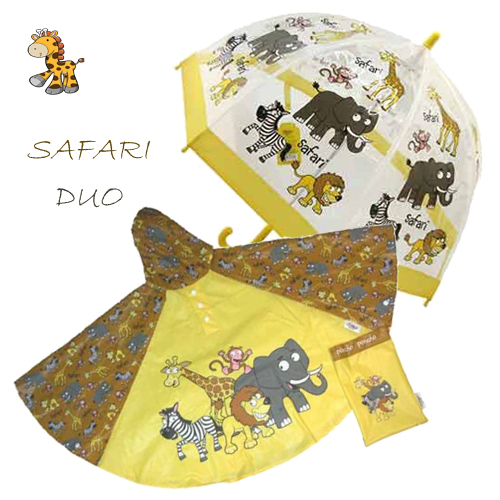 safari Duo Umbrella Poncho kids raincoats
