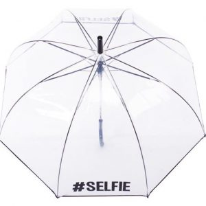 #Selfie Clear Dome Umbrella