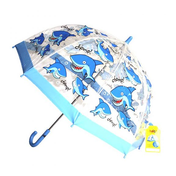 Children's PVC shark umbrella
