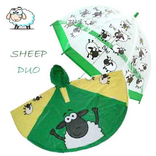sheep Duo Umbrella Poncho kids raincoats