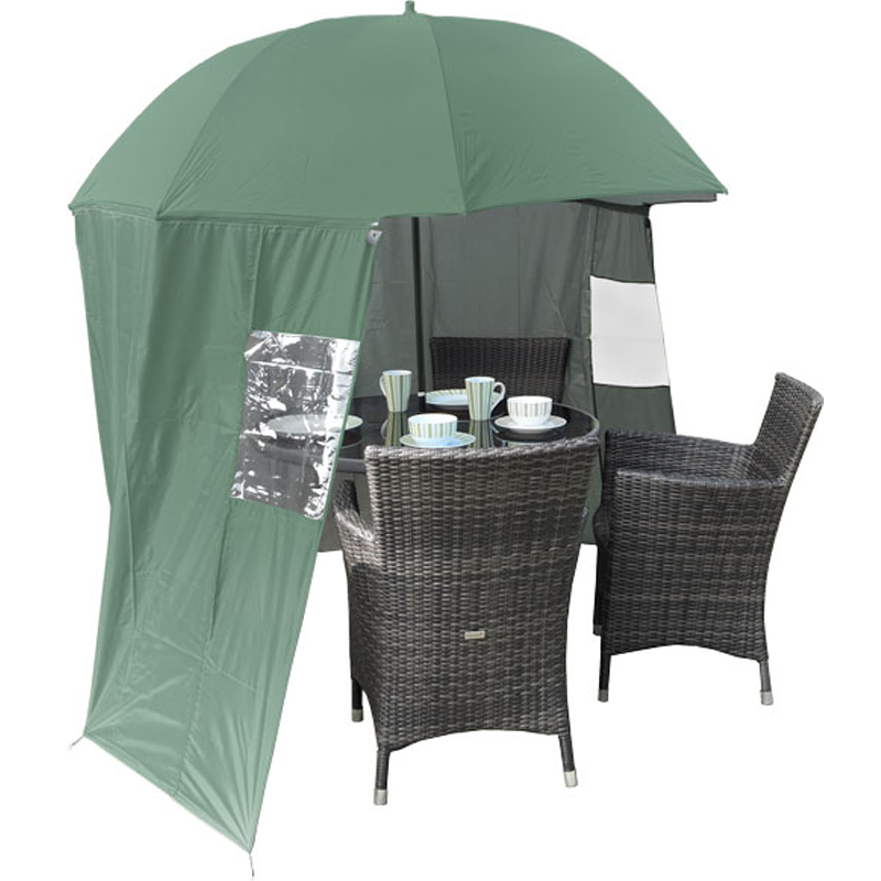Shelta Shade Garden Parasol With Zip On Windbreak
