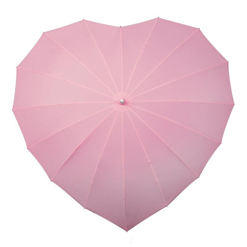 Heart Shaped Umbrellas Soft Pink Umbrella Heaven