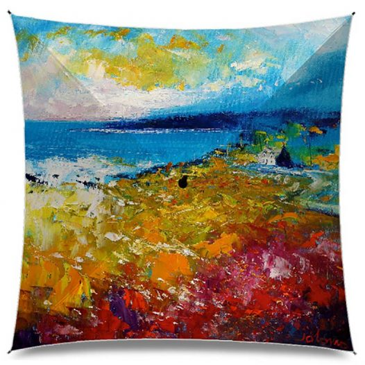 JoLoMo Art Umbrella - Soft Summer Rain on East Coast Harris