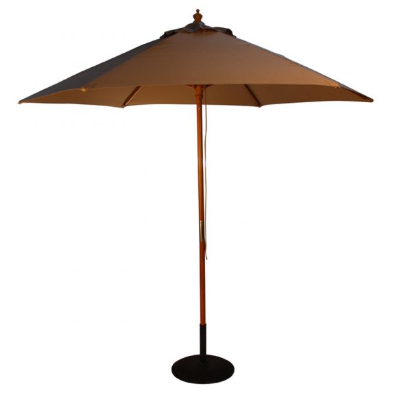 wood pulley parasol taupe cutout