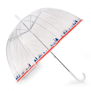 London Skyline Clear Dome Umbrella