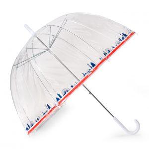 London Skyline Clear Dome Umbrella
