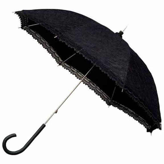 Victorian Lace Wedding Umbrella / Black Lace Umbrella
