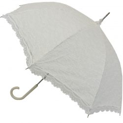 Victorian White Lace Umbrella