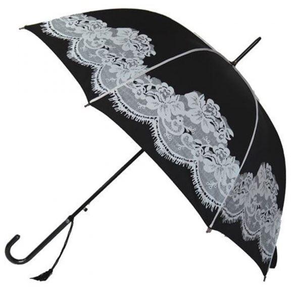 black vintage umbrella