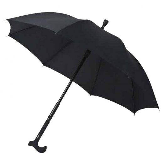 Walking Stick Umbrella - Black 1